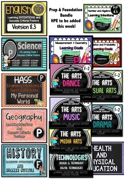 Grade 1 BUNDLE - All SUBJECTS Learning INTENTIONS