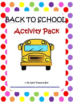 Grade 1  Back To School Pack
