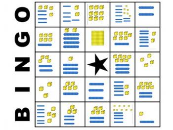 Grade 1 - Base Ten Block BINGO (2 digit numbers)  1.NBT.2