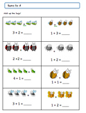 Grade 1 Bug Math Worksheet Package