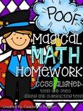 Common Core Math Homework & Morning Work-Grade 1- Addition & Subtraction