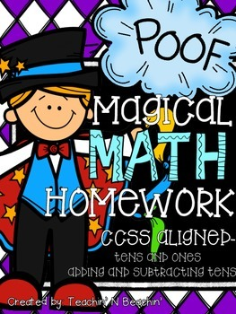 Common Core Math Homework & Morning Work-Grade 1- Addition & Subtraction