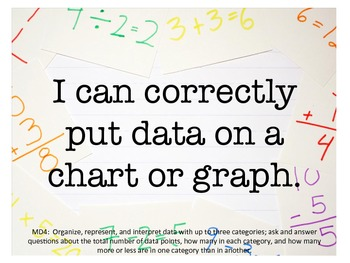 """Grade 1 CCSS Math Posters """"I Can"""" Statements"""