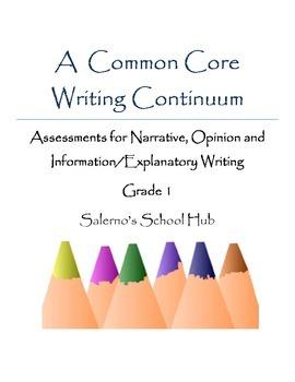 Grade 1 CCSS Writing Continuum