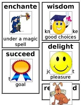 Grade 1 CKLA Domain 9: Fairy Tales Core Vocabulary Cards