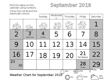 Grade 1 Calendar Editable Pages 2018/2019 Update