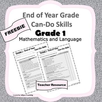 Grade 1 Can-Do Skills