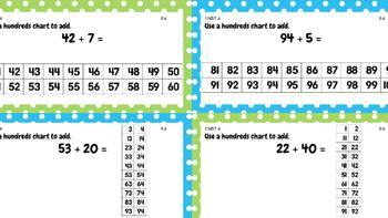 Grade 1 Ch. 8 Go Math Task Cards