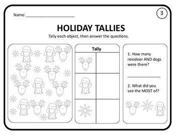Grade 1 Christmas Math Activities