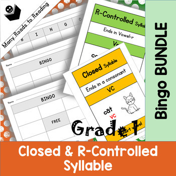 Grade 1 Closed & R-Controlled Bingo Game BUNDLE