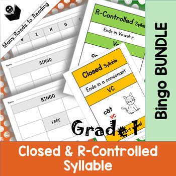 Closed & R-Controlled Bingo Game BUNDLE Grade 1