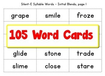 Grade 1 Closed & Silent-E Bingo Game BUNDLE