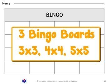 Closed Syllable Bingo Game Grade 1