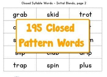 Closed & Vowel Vowel Bingo Game BUNDLE Grade 1