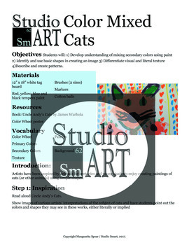 Grade 1 Color Mixed Cats Painting Lesson
