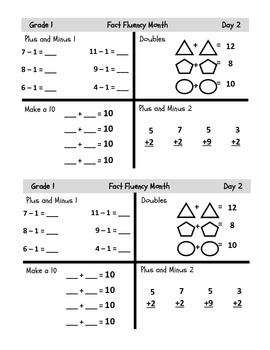 Grade 1 Common Core Fluency Resource