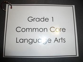 Grade 1 Common Core Language Arts Reference Chart