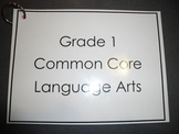 Grade 1 Common Core Language Arts Reference Chart