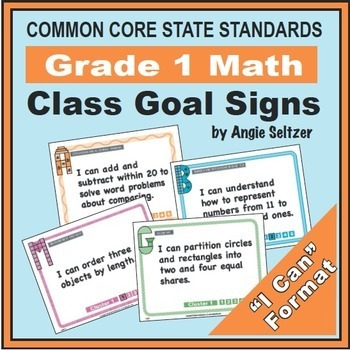 Grade 1 Common Core Math Communication Bundle (Posters, Goal Signs, Checklists)