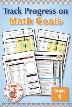 Grade 1 Common Core Math EXCEL Goal Tracker Spreadsheet with Paper Trail