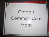 Grade 1 Common Core Math Reference Cards
