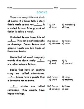 Grade 1 Common Core Reading: Informational Texts Cloze Bundle