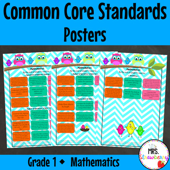 Grade 1 Common Core Standards Posters {Mathematics} Owl Theme