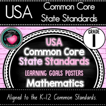 Grade 1 - Common Core Standards - Learning Goals Posters