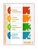 Grade 1: Teacher/Student Friendly Common Core/PARCC Aligned Writing Rubrics