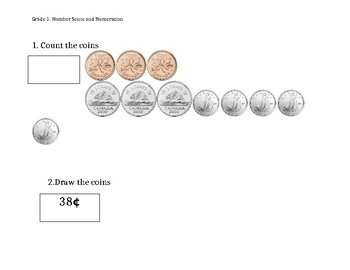 Grade 1 - Counting Money Assessment