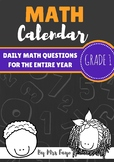Grade 1 Daily Math Calendar Questions