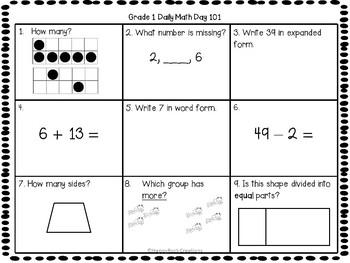 Grade 1 Daily Math Days 101-120