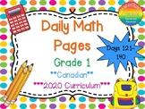 Grade 1 Daily Math Days 121-140