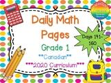 Grade 1 Daily Math Days 141-160