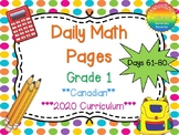 Grade 1 Daily Math Days 61-80