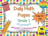 Grade 1 Daily Math Days 81-100