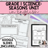 Grade 1 Science: Daily and Seasonal Changes Unit (English)