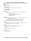Grade 1 Daily and Seasonal Changes Unit Plan