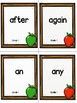 Grade 1 Dolch Sight Word Flashcards Apple theme