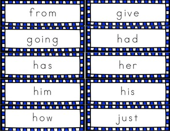 Grade 1 Dolch Sight Word Handwriting Flash Cards