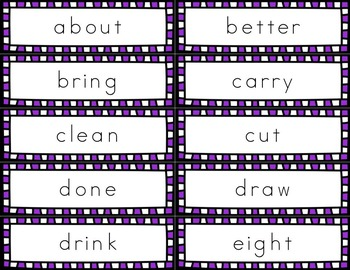 Grade 3 Dolch Sight Word Handwriting Flash Cards