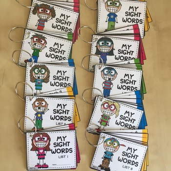Grade 1 Dolch Sight Words Cards - Printable, NO PREP, Pyramid Reading
