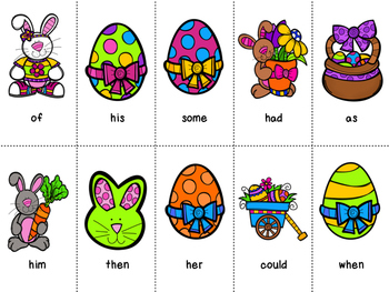 Grade 1 Dolch Word Game - Easter Themed