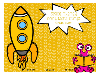 Grade 1 Dolch Word Game - Space Themed