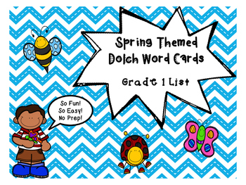 Grade 1 Dolch Word Game - Spring Themed