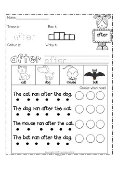 Grade 1 Dolch Words (Sight Words, Spelling Words, Fluency, Word Work)