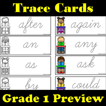 Grade 1 Dolch Words: Word Wall: Word Trace: Dolch Word Flashcards