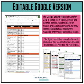 Grade 1 ELA Common Core Checklist