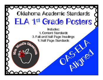Grade 1 ELA Content Standard Posters