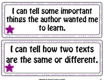"Grade 1 ELA ""I Can"" Statements"